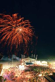 Festa sul mare davanti a Viale Ceccarini